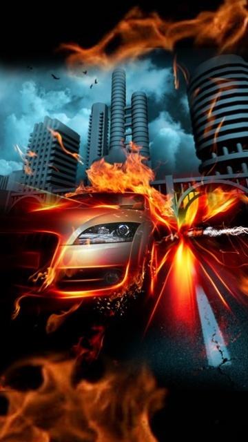 Креативная картинка для рабочего стола на автомобильную тематику