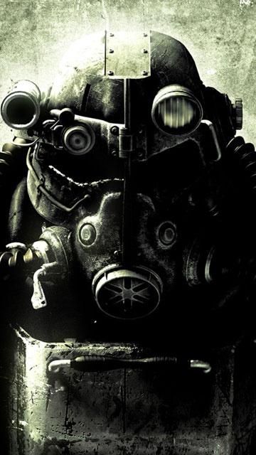 Обои для смартфонов Нокиа 5230 xpressmusic в стиле компьютерной игры Fallout 3